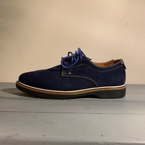 Cantarelli mens lace up suede navy shoes 👞